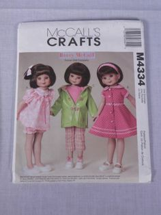 Vintage-McCalls-Pattern-M4334-Betsy-McCall-Tonner-Doll-Uncut