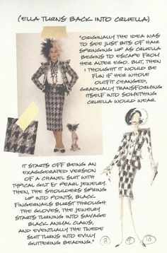 Glenn Close, Movie Costumes, Cool Costumes, Costume Design Sketch, Black Animals, Outfits With Hats, Disney Halloween, Disney Villains, All About Fashion