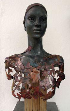 """Saatchi Online Artist: Natalie Staniforth; Clay, 2011, Sculpture """"MIx materials portrait"""""""