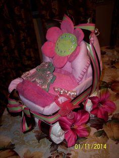 Diaper cake stroller boy girl or neutral made by HisAmazingGrace, $55.00