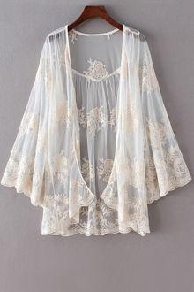 Open Front Crochet Lace Blouse