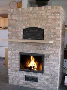 I'd like a white oven over my fireplace.