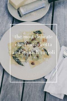 dérrive recipe - the most delicate chestnut, ricotta and spinach ravioli www.derrive.com