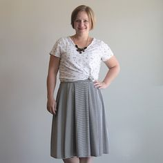 Learn how to sew a trendy pleated midi skirt with this easy to follow sewing tutorial. Girl Charlee KnitFix review.