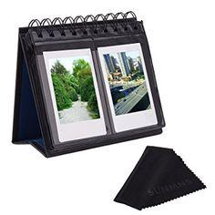 Sunmns Desk Table Calendar Style Photo Album for Fujifilm Instax Mini 7s 8 50s 70 90 26 9/ Polaroid Z2300 PIC-300P Snap Zip Films, Black (Back Color Random) Review
