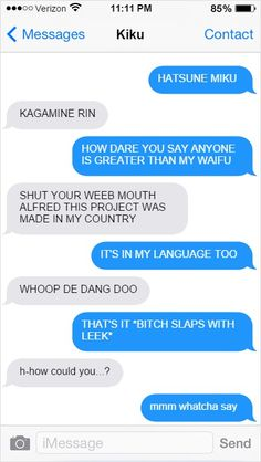 Hetalia Text Messages America and Japan argue over which vocaloid is better.