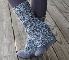 Hand knitted leg warmers/boot cuffs/ boot cover.....L.O.V.E.!