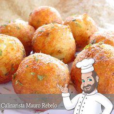 Culinarista Mauro Rebelo Alguns dizem que é falso bolinho de bacalhau. Uma deliciosa receita para evitar o desperdício. Você pode aprov...