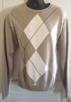 Geoffrey Beene Men's Pull Over Sweater Sz XL Tan Excellent Condition Winter Fall | Clothing, Shoes & Accessories, Men's Clothing, Sweaters | eBay!