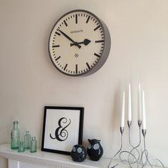 Newgate Putney Wall Clock, Clocks, fireplace, lounge, lounging, front room, sitting room