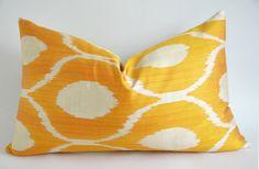 designer pillowy home decor ikat pillow Yellow Orange Ikat Pillow Cover - Chevron Cushion Cover - Bohemian Chic Decor Ikat Pillows, Cushions, Bohemian Chic Decor, Orange, Yellow, Pillow Covers, Chevron, Creative, Handmade