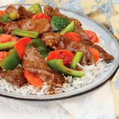 Quick Recipes & Kitchen Tips: beef and vegetable teriyaki