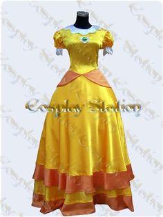 Nintendo Princess Daisy costume. i prefer Princess Peach, however.