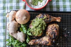 Indian Style Chicken Thighs with Sauce Chien. Roast juicy chicken thighs in a seriously spicy, herby marinade, also known as sauce chien! A delicious recipe by greek chef Akis.