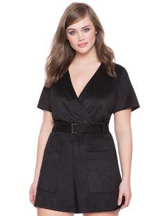 Studio Suede Romper | Women's Plus Size Dresses | #plussizefashion #suedetrend #curvyfashionblogger ELOQUII