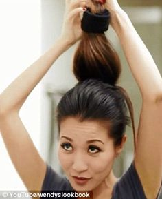 Sock bun tutorial. Love Wendy's tutorials.  She is so much fun and pleasant to watch...not to mention cute as a button!!