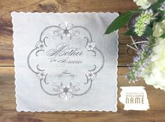 Personalized Mother of the Groom handkerchief by PrintmadeStudio
