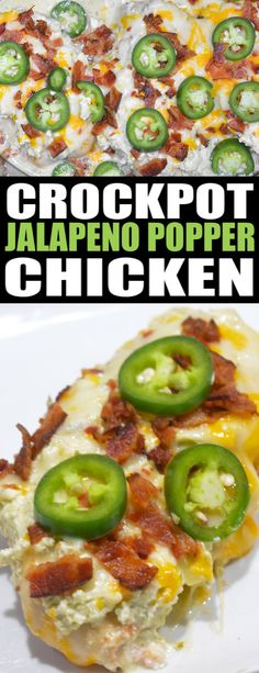 Turn your favorite appetizer into a delicious family dinner with this low carb & KETO friendly Slow Cooker Jalapeno Popper Chicken. Jalepeno Chicken Recipes, Jalepeno Popper Chicken, Best Chicken Recipes, Recipe Chicken, Keto Chicken, Chicken Soup, Crock Pot Cooking, Cooking Recipes, Healthy Recipes