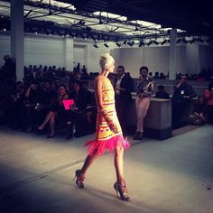 Kaleidoscopic prints and extravagant embellishments at Manish Arora SS14  #pfw #fashionweek