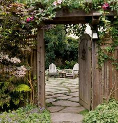 A gate creates intrigue... what is on the other side?