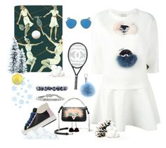 """""""Winter Tennis"""" by juliabachmann ❤ liked on Polyvore featuring Fendi, Chanel, Mark Broumand and Nordstrom"""
