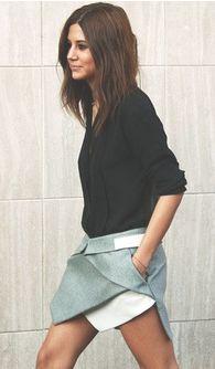 black shirt + a great skirt