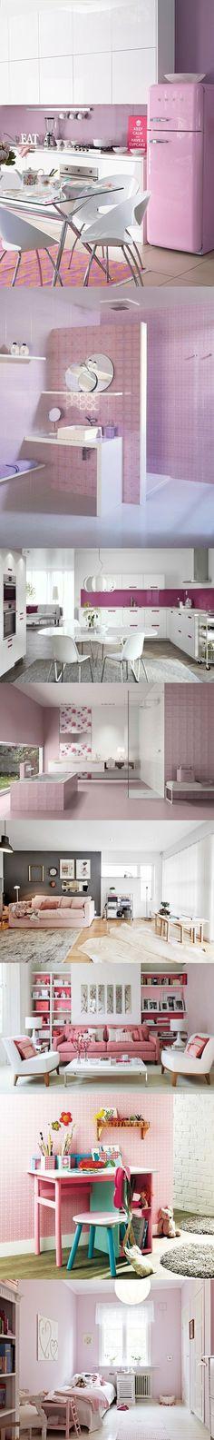 Como usar el color rosa en tu casa / https://proyectos.habitissimo.es