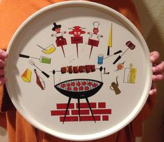 Adorable Vintage Cook Out Tray by Giddies on Etsy