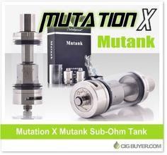 Indulgence Mutank Sub-Ohm Tank – $35.99: http://www.cigbuyer.com/indulgence-mutank-sub-ohm-tank/ #ecigs #subohm #vaping #mutank #mutationx #subtank #vapelife #vapedeals