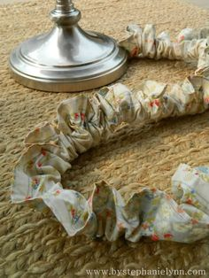 Hide those cords in less than 5 minutes - No Sew Ruffled Electrical Cord Cover -  Might work with kitten!?