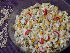 Pasta Salad, Grains, Cooking Recipes, Food, Crab Pasta Salad, Chef Recipes, Essen, Meals, Eten