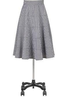 #eShakti Tiered gingham check skirt