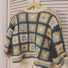 Crochet Cardigan, Knit Crochet, Crochet Jumpers, Crotchet, Granny Square Sweater, Knitting Patterns, Crochet Patterns, Crochet Designs, Crochet Clothes
