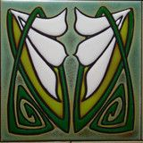 Art Nouveau Classic - Green and Ivory by Loftin Tileworks | Loftin Tileworks