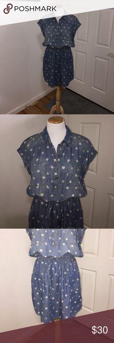 "Sonoma Jean Dress 36.5"" Long at the longest in the back. Sonoma Dresses Midi"