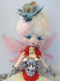 FRENCH FAE Kaerie Faerie Original soft sculpture by Kaeriefaerie52, $45.00