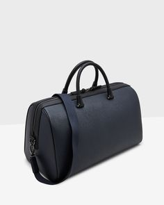 Discover men's designer bags at Ted Baker. With everything from satchel bags to leather holdalls, you're sure to get carried away by this stylish selection. Ted Baker, Long Sleeve Shirts, Satchel, Navy Bags, Stylish, Gym Bags, Leather, Men, Accessories