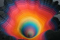 """....jen stark..."""" young contemporary artist of psychedelic artwork""""..miami...florida...amazing depth of color...."""