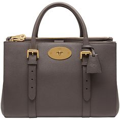 f59a73d9131b Mulberry Bayswater Leather Double Zip Tote Bag at John Lewis   Partners