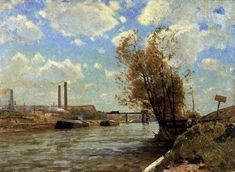 Victor Westerholm The Seine at Paris, 1888 Oil on canvas, 61 x 82 cm Turun Taidemuseo, Turku A4 Poster, Poster Prints, Web Gallery Of Art, Water Art, Vintage Artwork, Yahoo Images, Oil On Canvas, Autumn, Fine Art