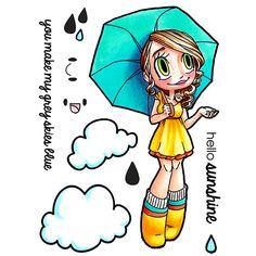 Umbrella Gwen Clear Stamp | Some Odd Girl stamps – SomeOddGirl