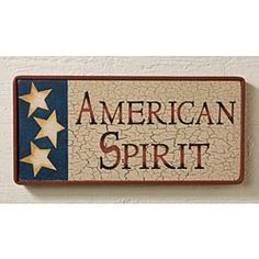 American Spirit and proud of it.