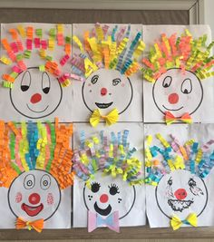Winter Crafts For Kids Clown Crafts, Circus Crafts, Carnival Crafts, Winter Crafts For Kids, Summer Crafts, Art For Kids, Easy Crafts, Diy And Crafts, Arts And Crafts