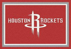 Houston Rockets area rugs. Decorate your home, office or any other room with area rugs of your favorite NBA team. These area rugs are proudly made in the USA. They can be used to show team spirit or to add character to a game room where you watch your favorite NBA teams battle it out. Show pride in your team with Milliken's TeamMats collection, consisting of 50 NBA mascots and insignias. All area rugs in the TeamMats collection are made of 100% nylon and are washable for easy cleaning.
