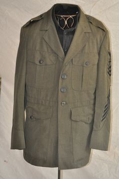 Military Jacket Men's Vintage 80's US Navy Dress Uniform Sailor's Vintage Coat Army Navy. $42.00, via Etsy.
