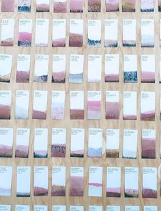 #DIY dip-dyed escort cards make for surprisingly special one-of-a-kind keepsakes.