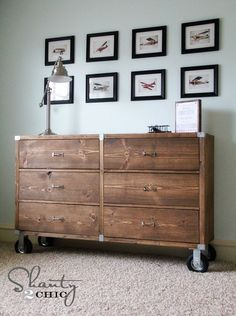 #DIY Furniture – Wood Dresser with Wheels! #howto #furniture #home