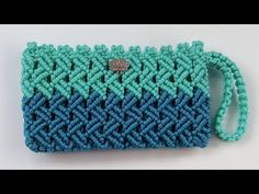Macrame Purse, Macrame Cord, Macrame Knots, Macrame Bracelets, Crochet Clutch Bags, Crochet Handbags, Crochet Pencil Case, Diwali Craft, Rug Yarn
