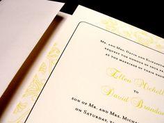 So Pretty Floral Frame Custom Color Wedding Invitations