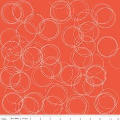 Four Corners Circles Coral Cotton Lycra Knit Fabric by Riley Blake Aztec Fabric, Orange Fabric, Coral Orange, Little Girl Dancing, Four Corners, Riley Blake, Fabulous Fabrics, Modern Fabric, Sewing Patterns
